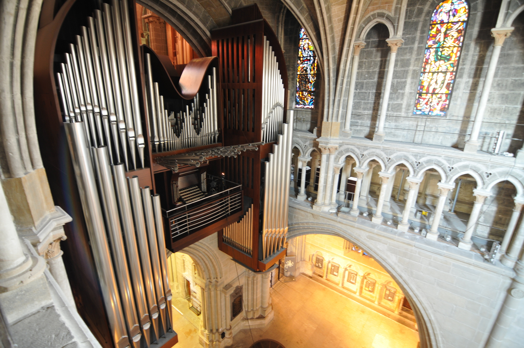 Cathedral's organ pipe